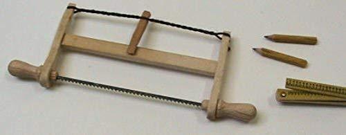 Liebe Holzspielzeug Liebe 46120 HANDARBEIT Gestellsäge 1 Stk. 1:12 für Puppenhaus 605