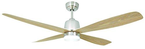Energiespar Deckenventilator Stratus mit Beleuchtung und Fernbedienung 132 cm - runde Flügel