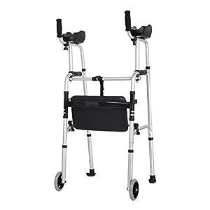 SXRL Rollator Faltbar Und Leicht Gehwagen, Leichtgewicht-Reiserollator Für Senioren Deaktiviert Aluminium Höhe Verstellbar