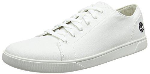 Timberland Herren Bayham Canvas Oxfords, Weiß (Bright White 143), 45 EU - Oxford-schuhe Weiß