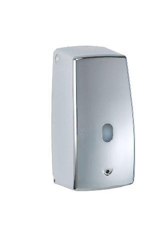 WENKO 18417100 Infrarot Seifenspender Treviso chrom, automatischer Flüssigseifen-Spender Fassungsvermögen: 0,65 l, Kunststoff, 11 x 22,5 x 10,5 cm, chrom