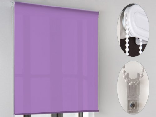 "MD - Estor enrollable ""lcc"" poliester, medidas 80x200cm, color lila"