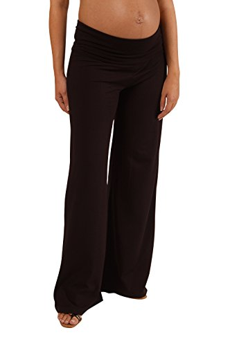Maternity Trousers by Picchu, wide leg style with foldover waistband for extra support. (12)