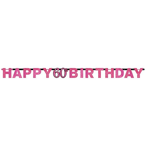 m Celebration Happy 18th Birthday Prismatischer Buchstabe Banner ()