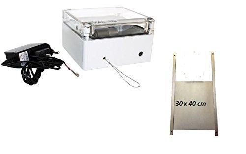 Elektronischer Pförtner VSB ST von AXT mit Stecker Netzteil und Hühnerklappe 30 x 40 cm