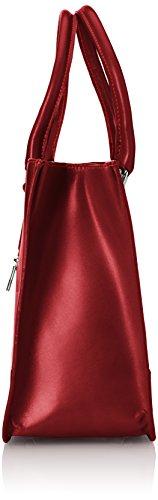 CTM Borsa Donna Elegante Classica, Stile Italiano, 36x26x18cm, Vera pelle 100% Made in Italy Rosso