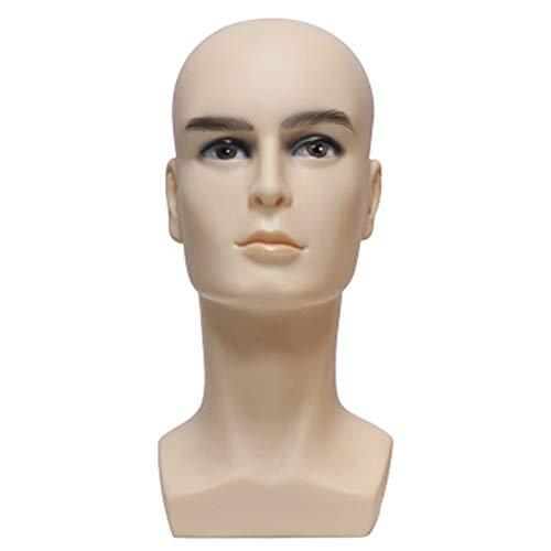 Schaufensterpuppe Kopf - Männliches Kopfmodell, Männliches Perückenkopf Modell, Zur Anzeige Von Helmen, Brillen, Kopfhörern Und Anderem Zubehör