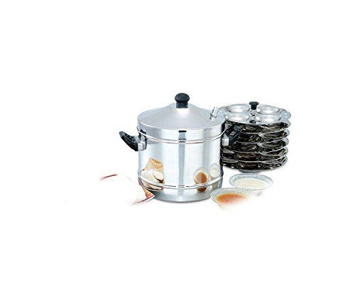 Perfect Diamond 4 Plates Stainless Steel Idly Cooker - 16 Idlis