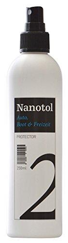 Nanotol Auto, Boot, Freizeit Protector 250 ml (40 m²) - Nanoversiegelung (Step 2) für Lack, Felgen, Autoglas - Glanzversiegelung/Lackpflege/Lotuseffekt/Keramik-Polymer-Hybrid-Beschichtung