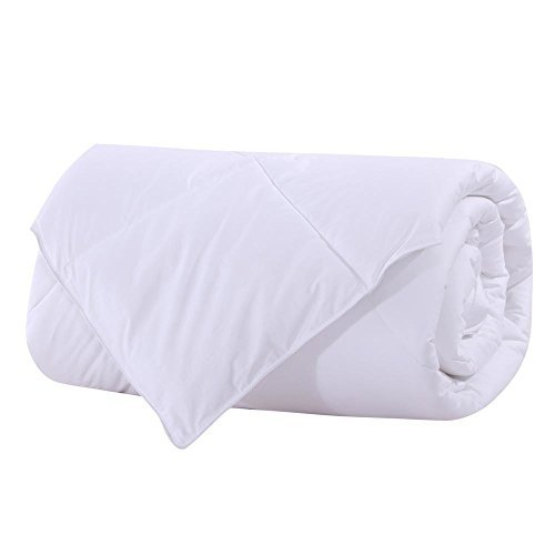 Royal Betten abripedic Bambus Faser gefüllt Decke, Daunen Alternative Bettdecke Einsatz, 100% Baumwolle Shell, Atmungsaktiv, Hypoallergen, Weiß Twin/Twin-XL Weiß (Xl Twin-decke)