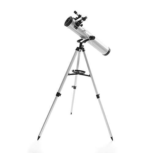 Geoponics 700 / 76mm 525x Zoom Profesional reflexivo Telescopio astronómico Trípode Ocular