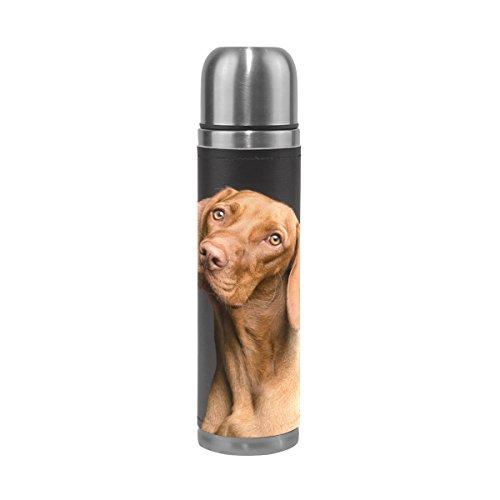 Eslifey Hunde-Trinkflasche, isoliert, doppeltes Vakuum, Edelstahl, 500 ml