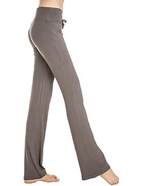 Cayuan Pantalones Palazzo Anchos Para Mujer Elástica Cintura Alta Pantalón Largo Cordón Pantalones Cómodos Suaves