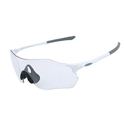 Yiph-Sunglass Sonnenbrillen Mode Windschutzscheibe Outdoor Sports Mountainbike Brille Sport Sonnenbrille Schutz Verfärbung Objektiv Für Männer Frauen Outdoor-Aktivitäten (Farbe : Weiß)