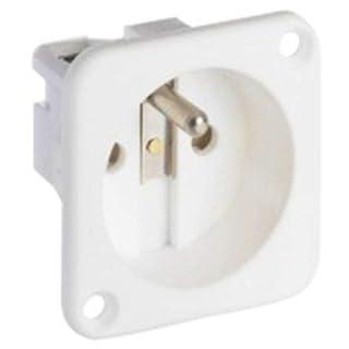 ABL Sursum 1 Gang Electrical Socket, Type E - French, Panel Mount