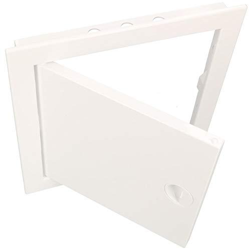 KOTARBAU Revisionstür Alle Größen Kunstoff ABS Inspektionstür Weiß Wartungsklappe Schnappverschluss Abnehmbar Wand/Decke/Boden Robust Öffnung Uni. (25 mm x 40 mm)