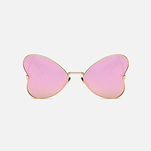 MWPO Polarisierte Sonnenbrille New Women 's Butterfly Style im freien Fahren straße pat Fotografie Brille (Farbe: Gold Rahmen lila rosa objektiv)