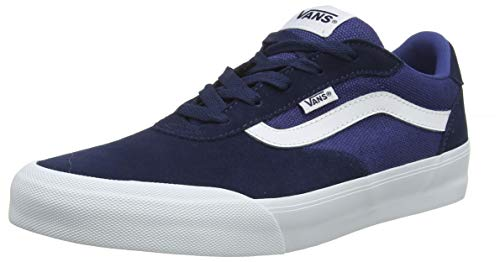 Vans Herren Palomar Sneaker, Blau ((Suede/Canvas) Dress Blues/Navy Vg6), 45 EU (Vans Blue Suede)