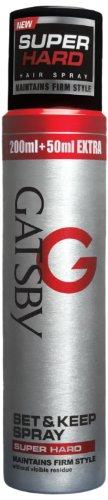 Gatsby Set and Keep Spray, Super Hard, 250ml