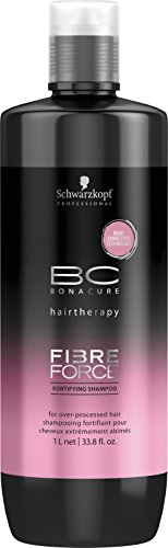 Schwarzkopf Bonacure hairtherapy fibre force fortifying shampoo, 1er Pack, (1x 1 L)