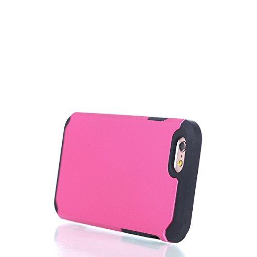 Ukayfe Custodia per iPhone 6/6S 4.7,UltraSlim TPU Gel Gomma Silicone Copertura Case per iPhone 6/6S 4.7,Moda Serie Pattern Back Cover Crystal Skin Custodia Stilosa custodia di design Protettiva Shell  Rosa caldo