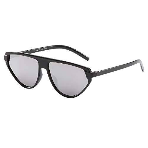 iYmitz Unisex Jahrgang Sonnenbrille, Damen Retro im Klassiker StilAuge Brille Mode Strahlung Sonnenbrillen Schutz Brillenträger(Silber,Free Size)