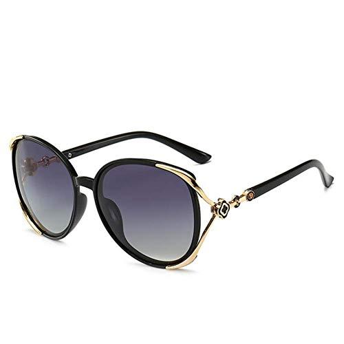 Sonnenbrillen Retro Damen polarisierte Anti-UV-Spiegelbeine gebogenes Design passt zu Materialien von Gesichtsqualität, geeignet für Reisen mit dem Auto