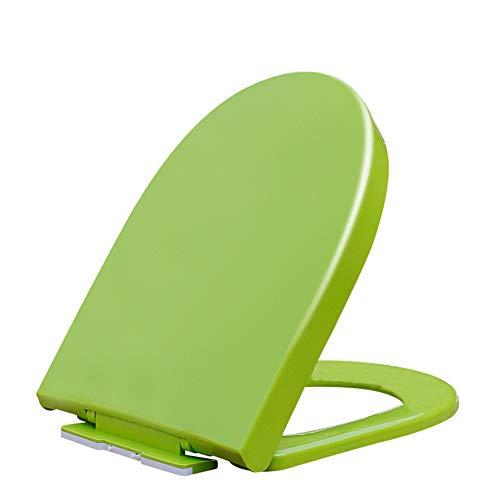 WC-Sitz Typ D, WC-Abdeckung weich geschlossen, Schnellspanner/Rutschfester Stoßfänger, blau/grün/lila