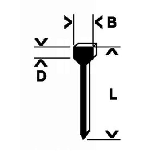 Bosch 2609200244 Clous 14 mm 1000 pièces Type 49