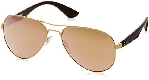 Ray-Ban Unisex Sonnenbrille Rb 3523 Mehrfarbig (Gestell: Gold/Braun, Gläser: Kupfer Verspiegelt 112/2Y) Large (Herstellergröße: 59)
