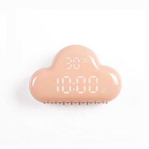 Nube Despertador Control Inteligente de Sonido Despertar Luz LED Perpetuo Calendario Mostrar Despertador Recargable Niño Despertador,Pink