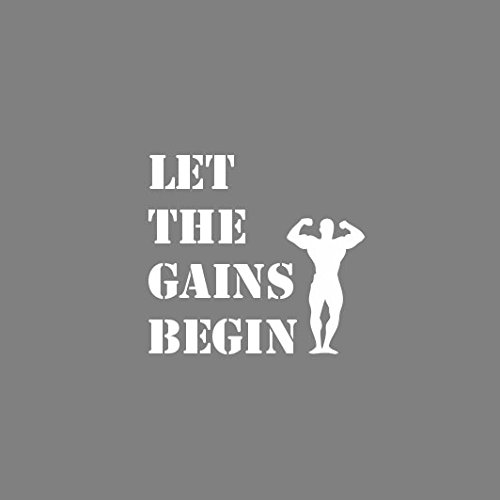 Let the Gains Begin - Herren Langarm T-Shirt Blau