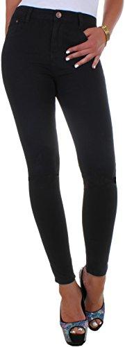 BD Damen Hight Waist Röhren-Jeans-Hose in schwarz 34XS (Rise High Hose)