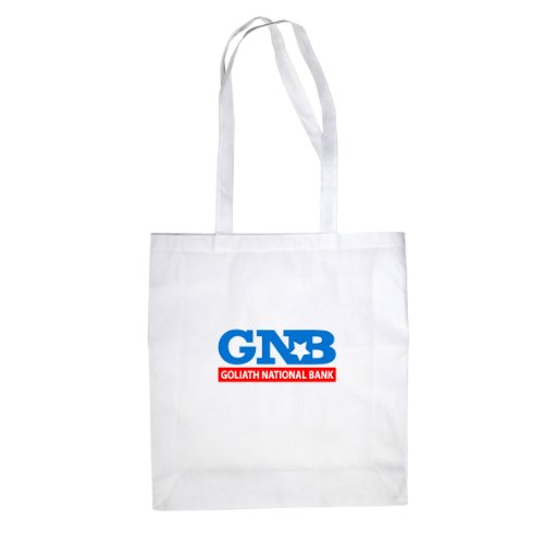 HIMYM: Goliath National Bank - Stofftasche / Beutel, Farbe: weiß