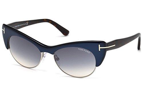 Tom Ford Für Frau 0387 Blue / Blue Gradient Kunststoffgestell Sonnenbrillen