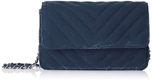 PIECES Damen Pcfaith Velvet Cross Body Umhängetasche, Blau (Legion Blue), 7x19x27 cm (Tasche Blau Gesteppte)