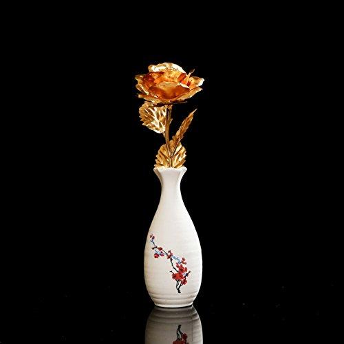 decorazioni per la casa/[decorazione]/Vaso in ceramica di simulazione dell'oro delle Rose/insieme/ contenitore di regalo regalo regalo-K