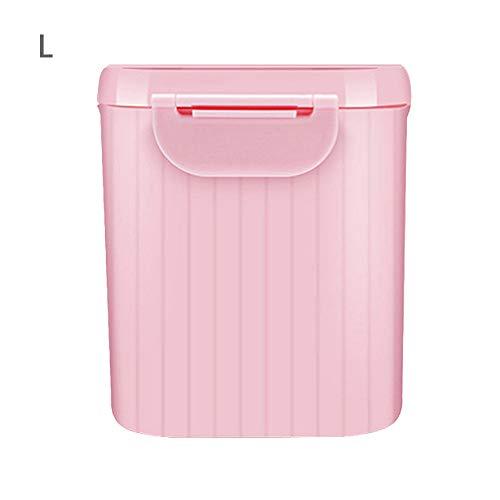 Baby Milchpulver Behälter, tragbare Formula Dispenser Essen Snacks Obst Lagerung große Kapazität Milchpulver Box für Infant Kleinkind Kinder - BPA Frei (Rosa, L) (Milchpulver-box)