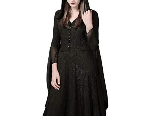 Frauen Kostüm Europäische - WLM Frauen europäischen und Amerikanischen Stil, Halloween-Kostüme, Verschiedene Maskerade Party Kleider,schwarz,XL