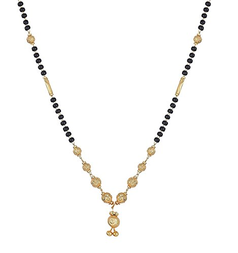 YouBella Gold Plated Jewellery Mangalsutra Pendant Necklace with Chain For Girls And Women