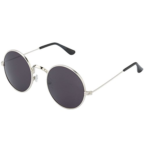 Y&S UV Protected Metal Frame Sunglasses for Men & Women (Black)