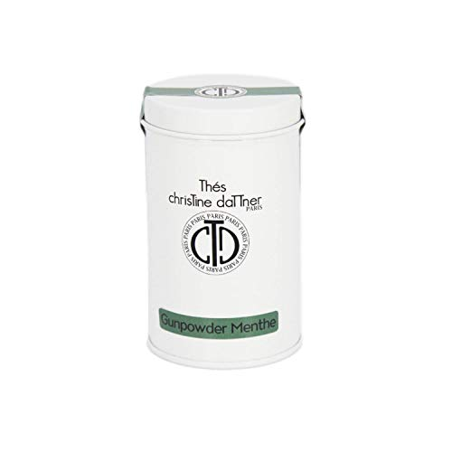 Christine Dattner - Grüner Tee Gunpowder mit Minze - Luxuriöse Metallbox 90 g - Doppelter Metalldeckel für optimale Haltbarkeit - Entgiftung - Antioxidans