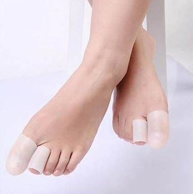 JERN Silicone Gel Toe Tube Foot Corns, Blisters, Bunion Toe Finger Protector(2 Pcs) (L)