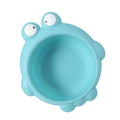D DOLITY Waschschüssel Baby tragbares Waschbecken Plastik - Frosch blau