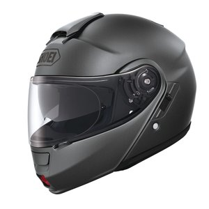 Tapa frontal Shoei Neotec para casco de moto, color plateado, grau-mat