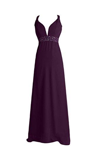 ivyd ressing Femme trager traîne rueckenfrei mousseline de soirée Prom robe robe du soir Traube