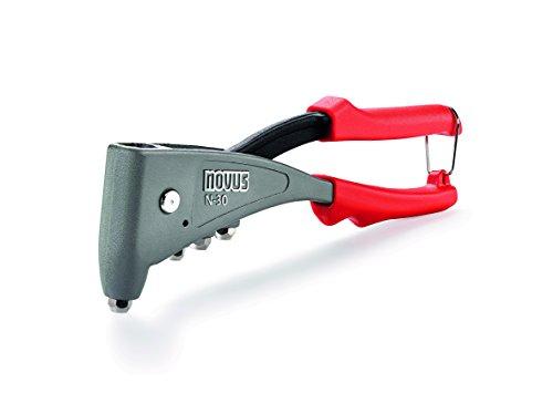 Novus Blindnietzange N-30, ergonomische Profi-Nietzange, 1-Hand-Bedienung, aus Aluminium und Stahl, Griffverriegelung