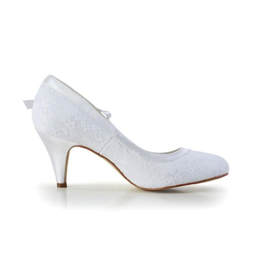 Jia Jia Wedding 594946 Scarpe Sposa Scarpe col tacco donna Bianco