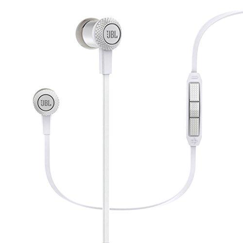 JBL Synchros S100i Leichte Stereo In-Ear Kopfhörer Ohrhörer mit 3-Tasten-Fernbedienung/Mikrofon/Lautstärkeregelung Inkl. Ersatz-Silikon-Ohrpassstücke und Etui Kompatibel mit Apple iOS Geräten - Weiß (Jbl Ohrhörer Synchros)