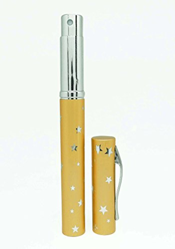 5 ml parfum rechargeable vaporisateur d'huile essentielle vide atomiseur pulvérisation bouteilles en verre de stylo d'or gros parfum de poche flacons de vaporisateurs 12 pcs